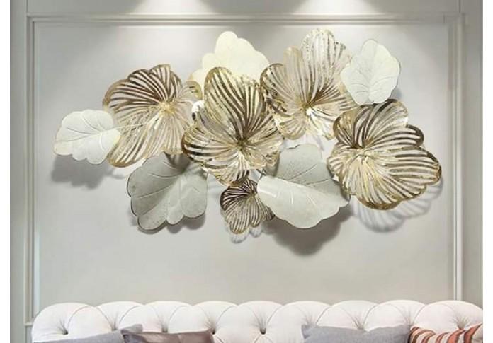 Metal flower White wall decor