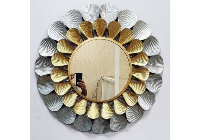 Metal Leaf mirror wall decor