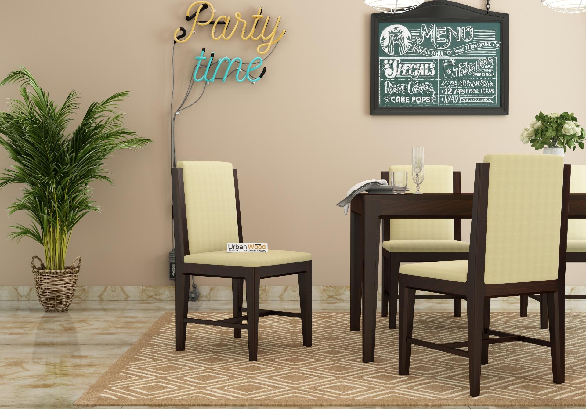 Deck Dining chair <small>( walnut Finish )</small>