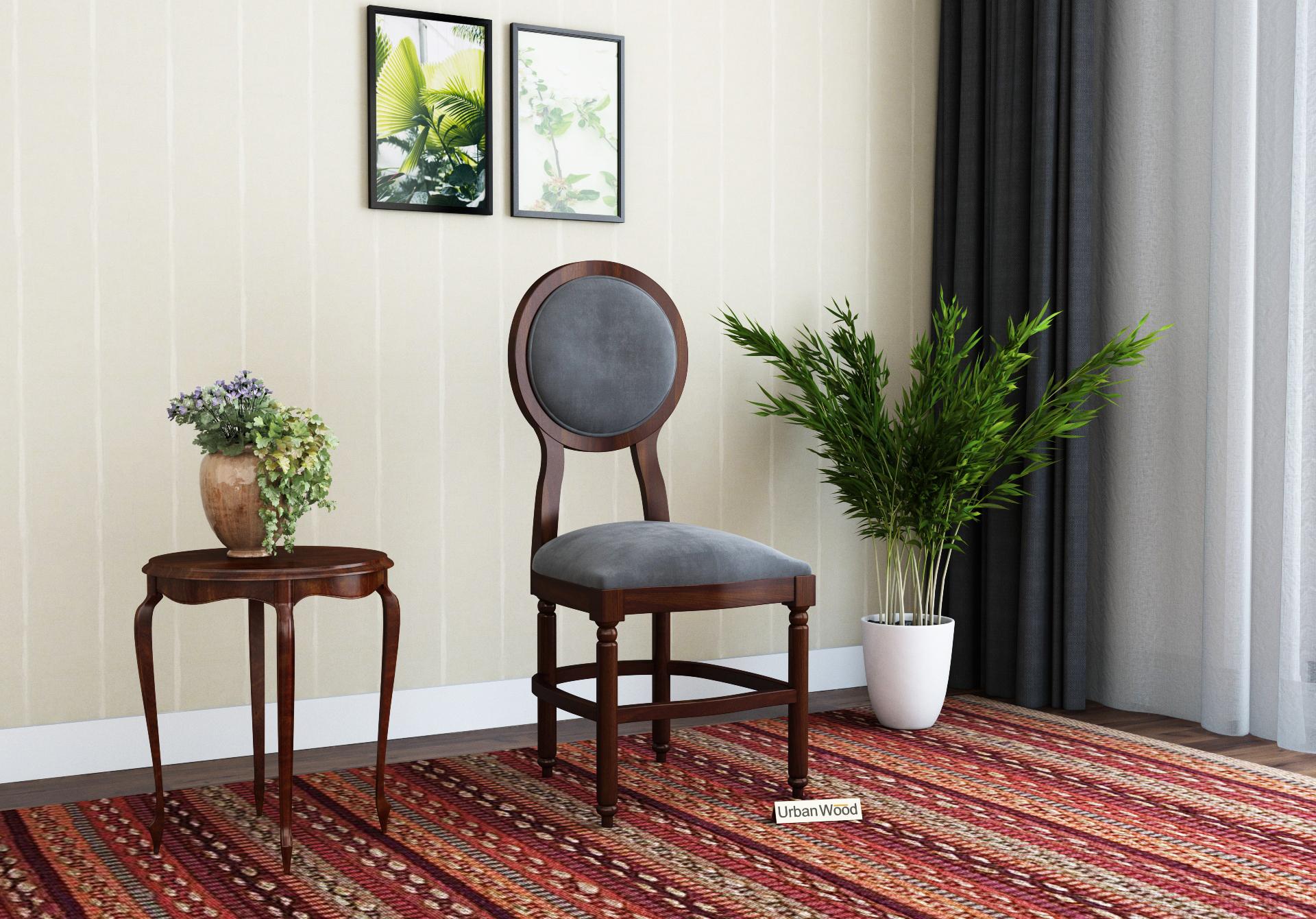 Oreo Dining chair <small>( Velvet, Stone grey )</small>