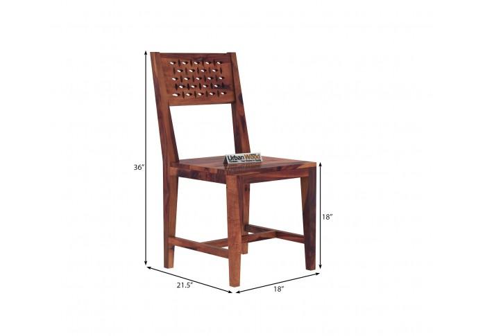 Woodora Without Cushion Dining Chair ( Teak Finish )