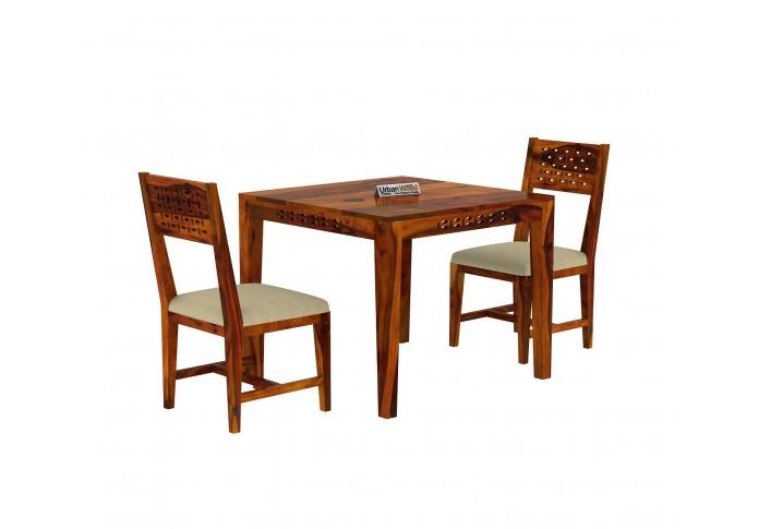 Woodora 2 Seater Dining Set With Cushion (Honey Finish)