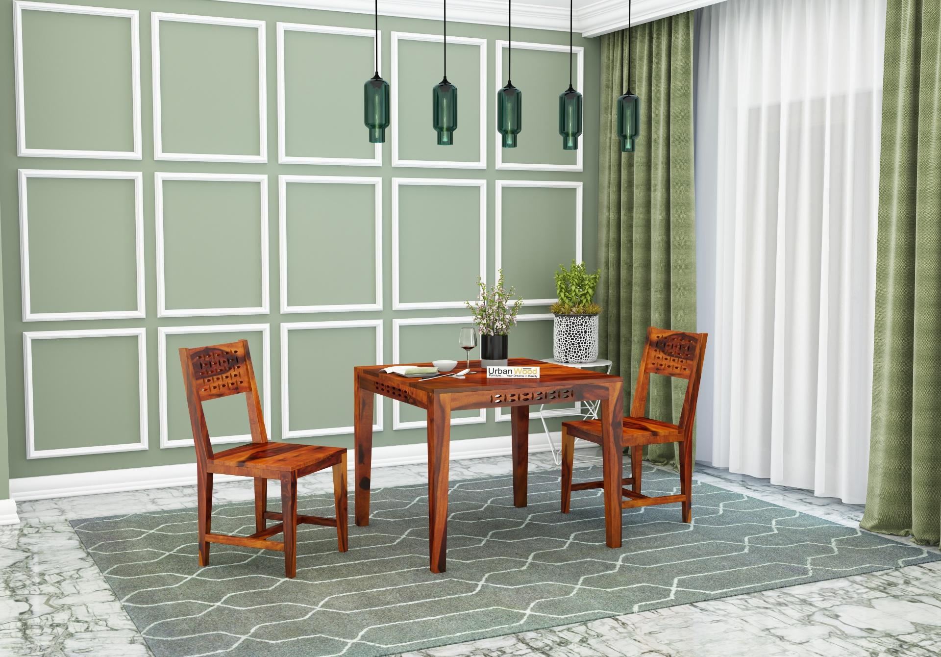 Woodora 2- Seater Dining Set <small>( Honey Finish )</small>