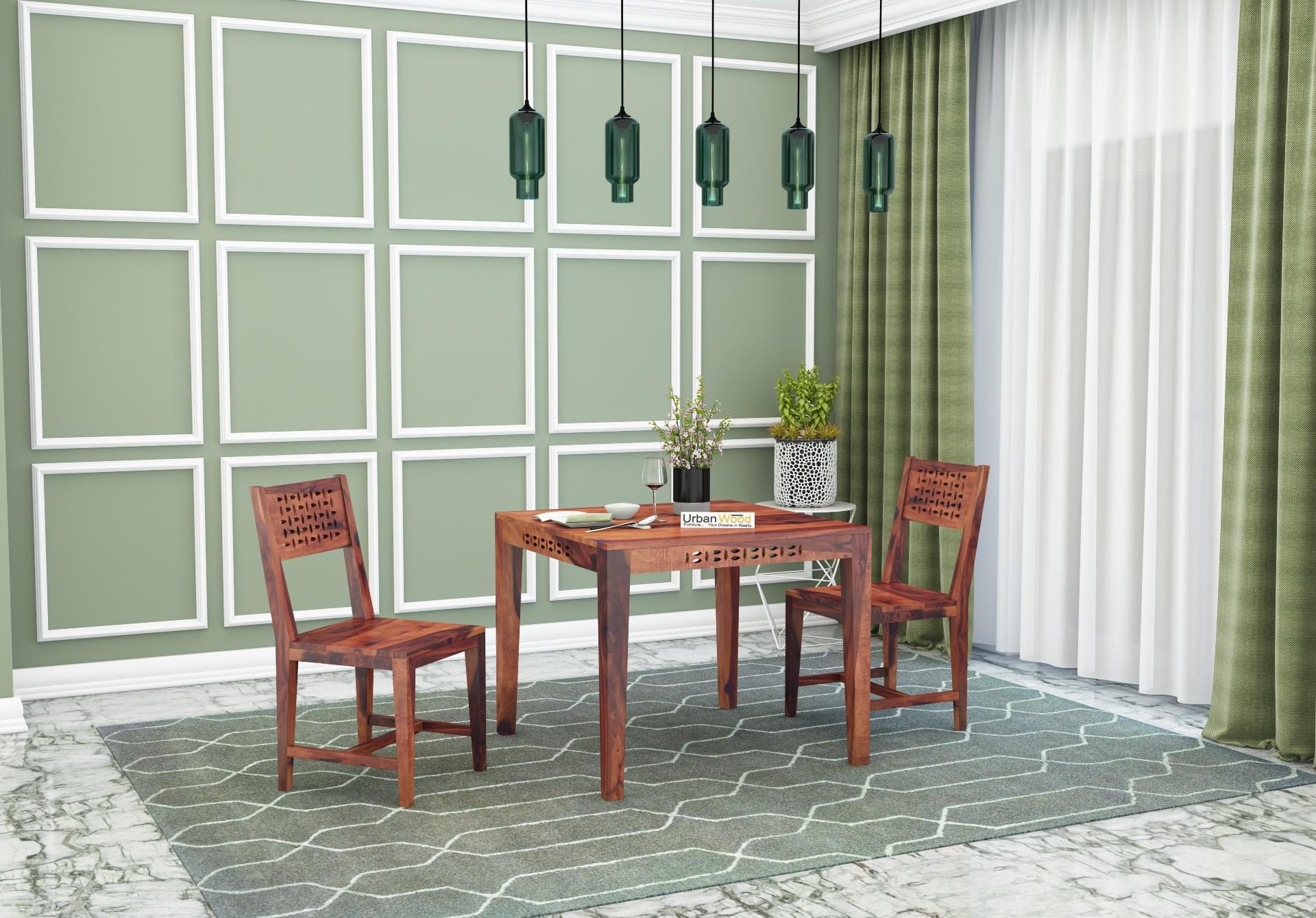 Woodora 2- Seater Dining Set <small>( Teak Finish )</small>