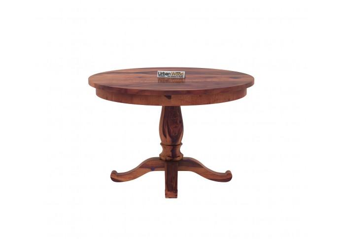 Knit 4-Seater Round Dining Table ( Teak Finish )