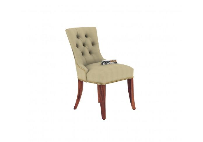 Knit 4-Seater Round Dining Table Set ( Teak Finish )