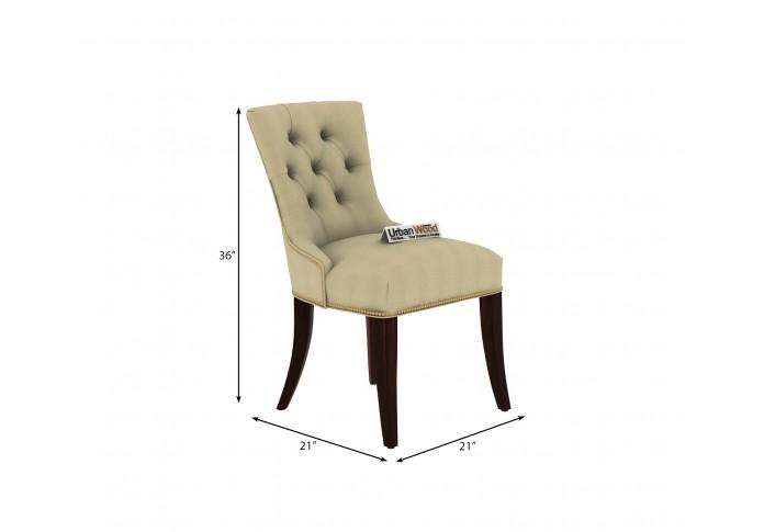 Knit 4-Seater Round Dining Table Set ( Walnut Finish )