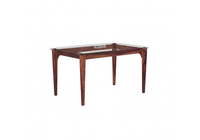 Quipo 4-Seater Dining Table (Teak Finish)