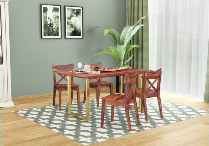 Tale 4-Seater Dining Table Set ( Teak Finish )