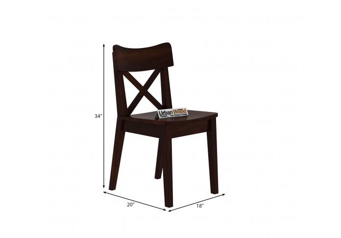 Tale 4-Seater Dining Table Set ( walnut Finish )