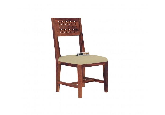 Woodora 4 Seater Dining Set with Cushion (Teak Finish)
