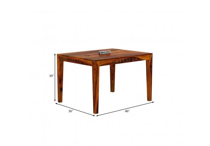 Woodora 4-Seater Dining Set <small>( Honey Finish )</small>