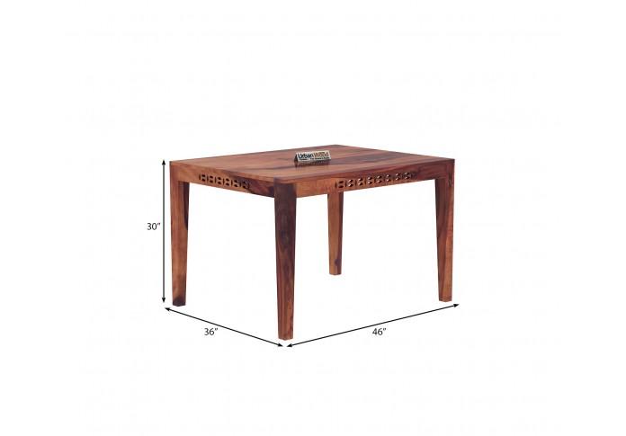 Woodora 4-Seater Dining Set ( Teak Finish )