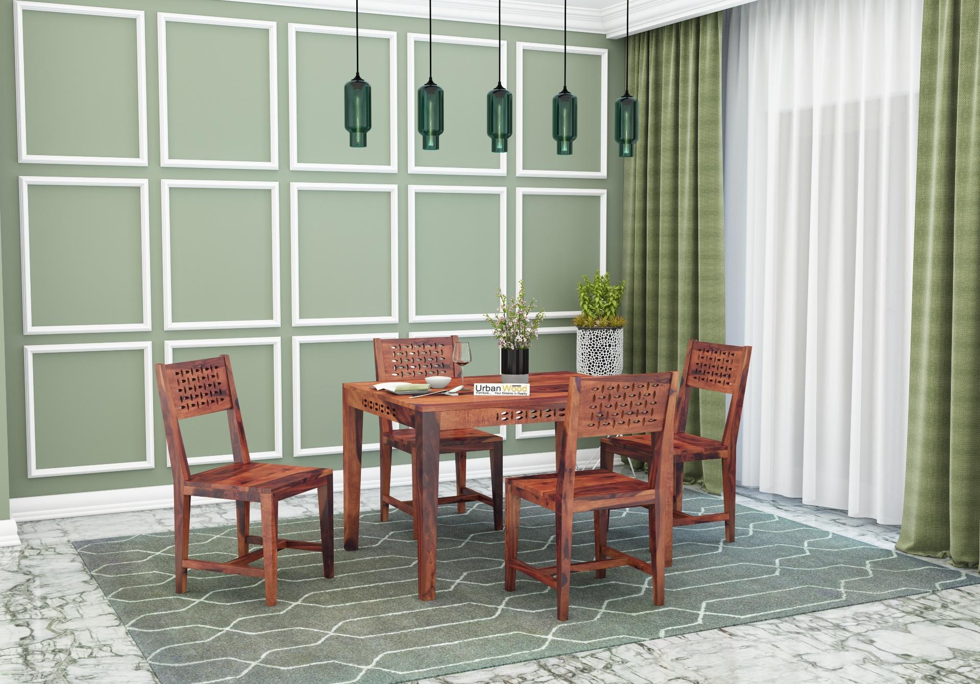 Woodora 4-Seater Dining Set <small>( Teak Finish )</small>