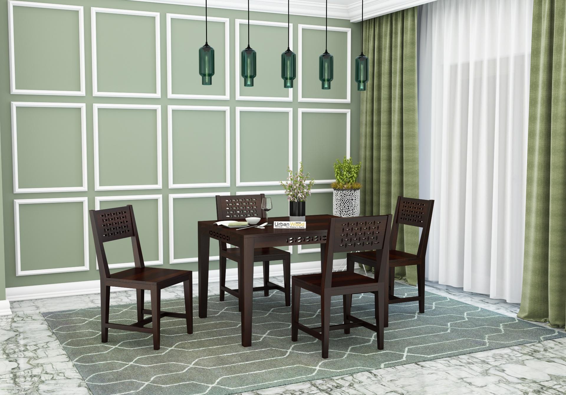 Woodora 4-Seater Dining Set <small>( Walnut Finish )</small>