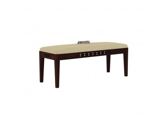 Woodora 6 Seater Dining Set Cushion With Bench (Walnut Finish)