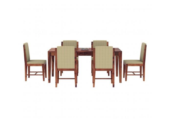 Deck 6-Seater Dining Table Set ( Teak Finish )