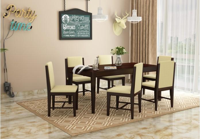 Deck 6-Seater Dining Table Set ( Walnut Finish )