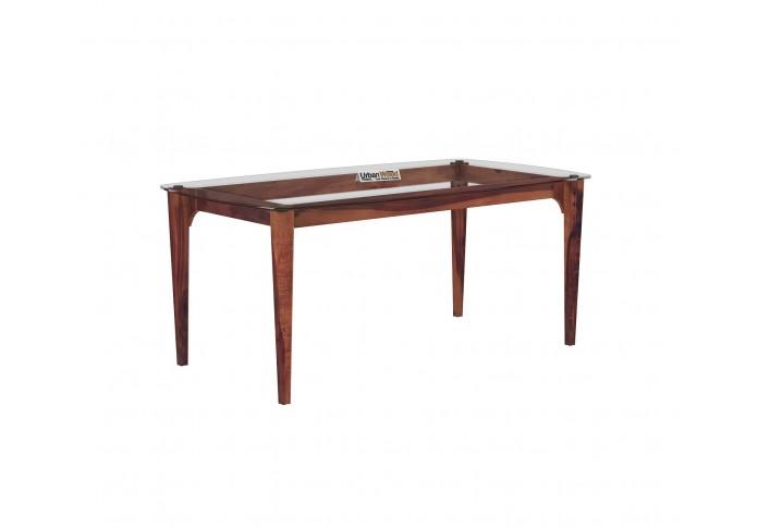 Quipo 6-Seater Dining Table (Teak Finish)