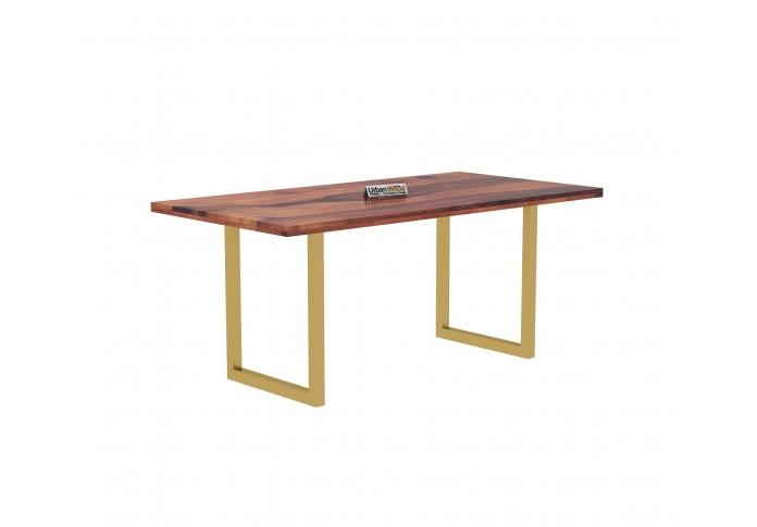 Tale 6-Seater Dining Table Set ( Teak Finish )