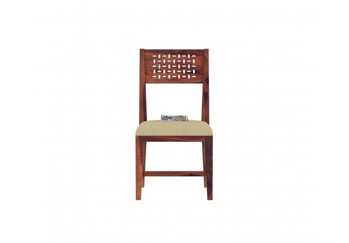 Woodora 6 Seater Dining Set with Cushion (Teak Finish)