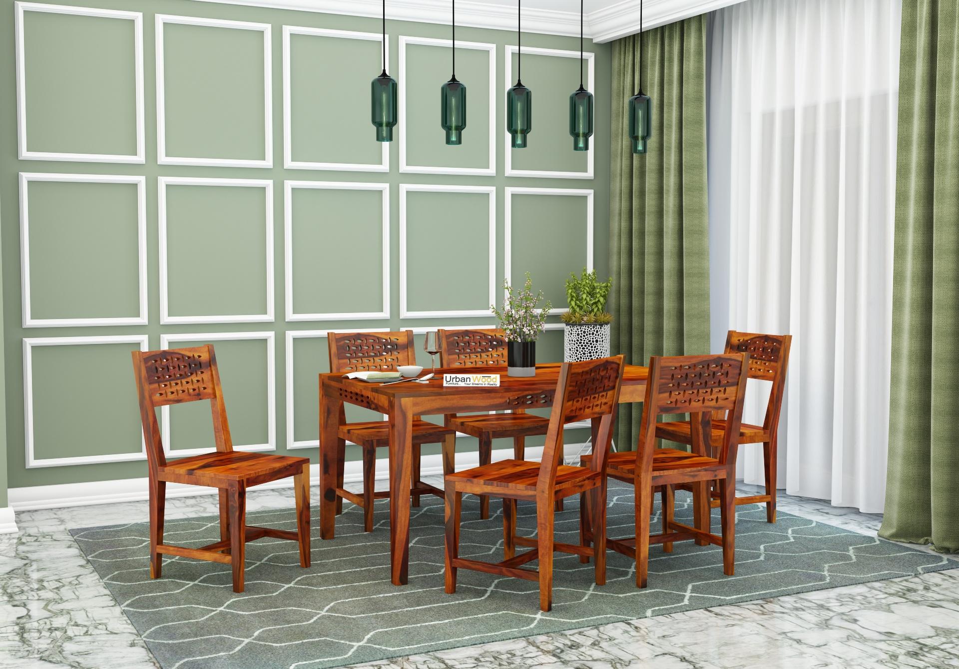 Woodora 6-Seater Dining Set <small>( Honey Finish )</small>