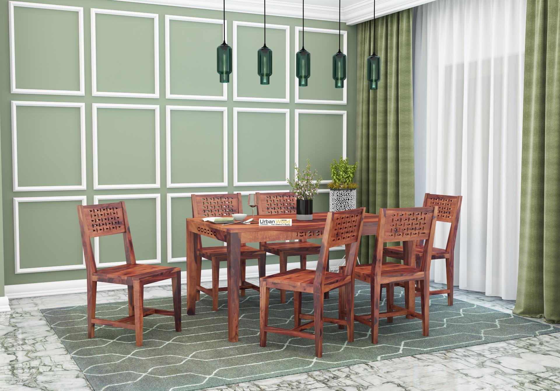 Woodora 6-Seater Dining Set <small>( Teak Finish )</small>