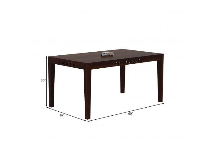 Woodora 6 Seater Dining Set with Cushion (Walnut Finish)