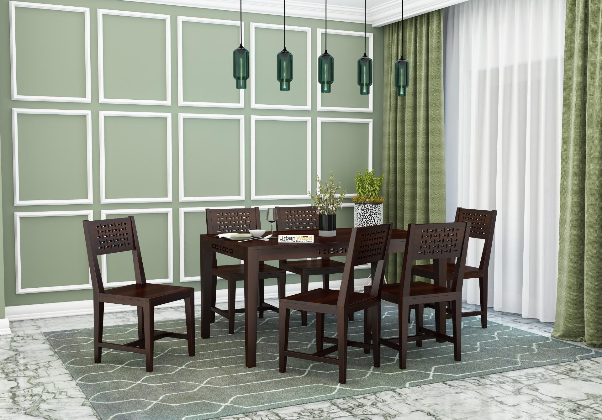 Woodora 6-Seater Dining Set <small>( Walnut Finish )</small>