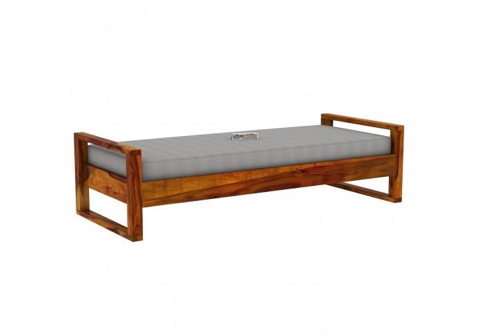Ara Wooden Diwan Bed (Honey Finish)