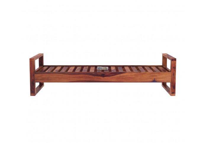 Ara Wooden Diwan Bed (Teak Finish)