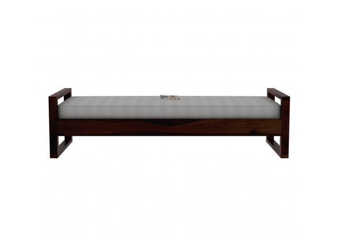 Ara Wooden Diwan Bed (Walnut Finish)