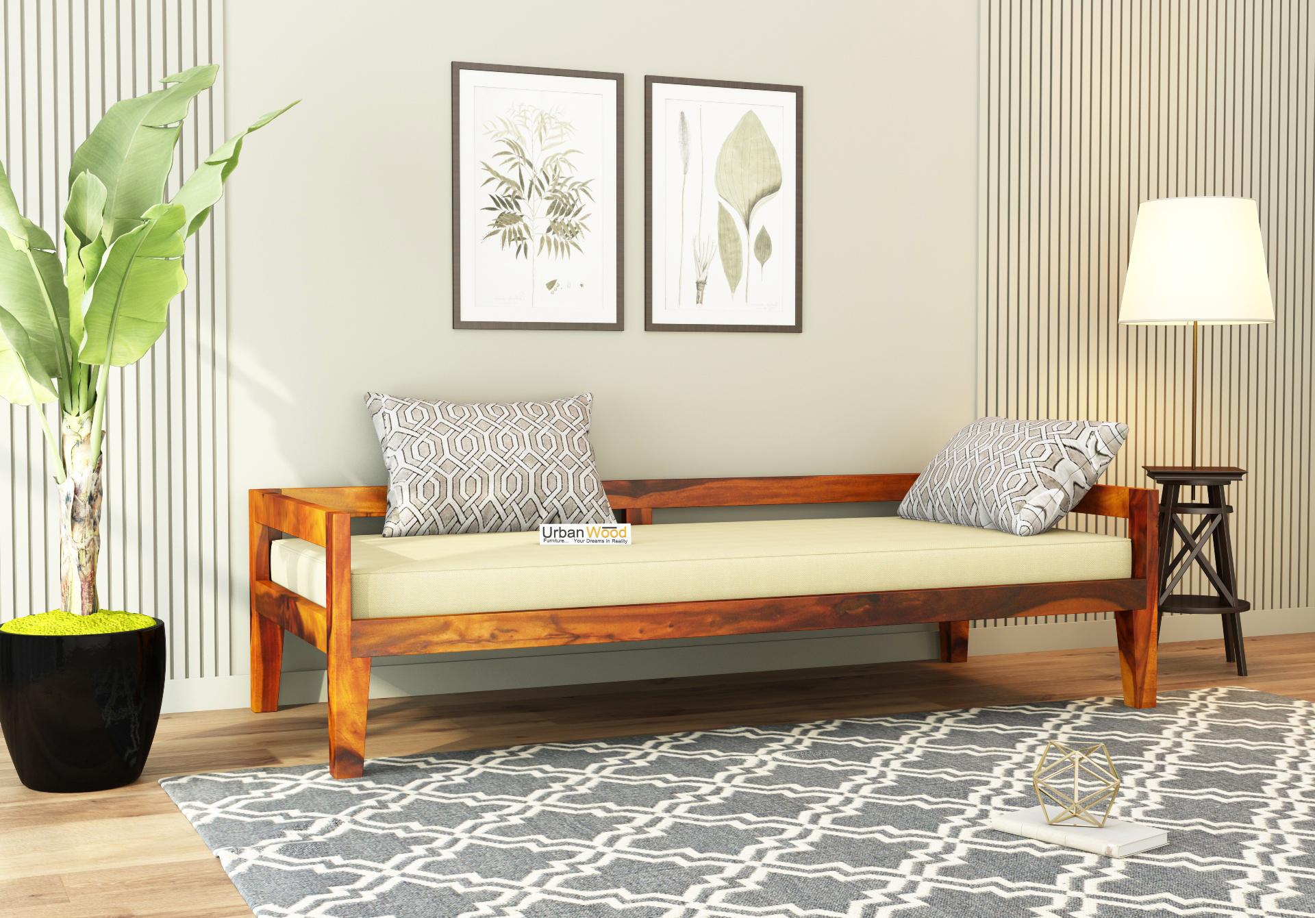 Joe Diwan Bed <small>( Honey Finish )</small>