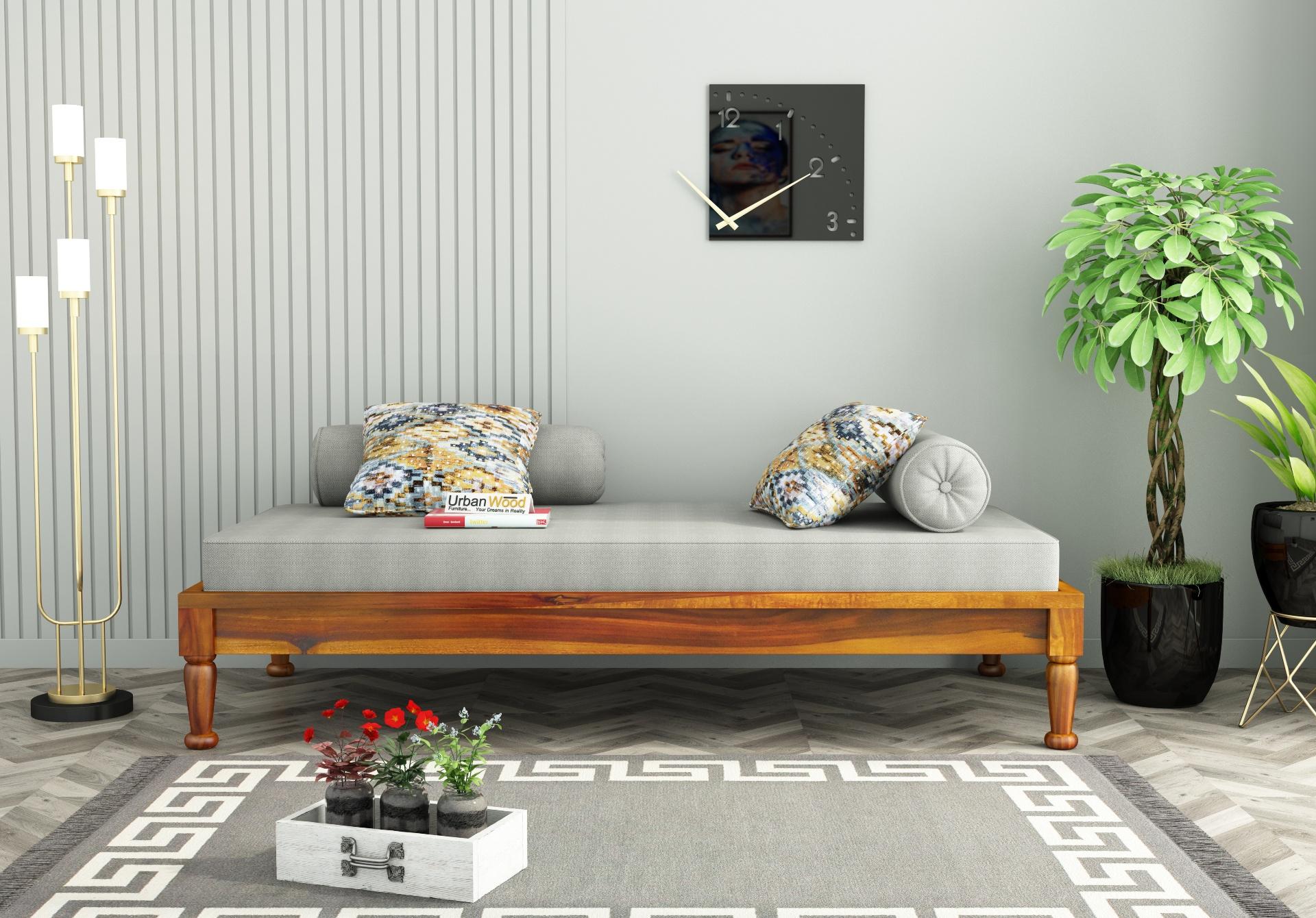 Nora Diwan Bed <small>(Honey Finish)</small>