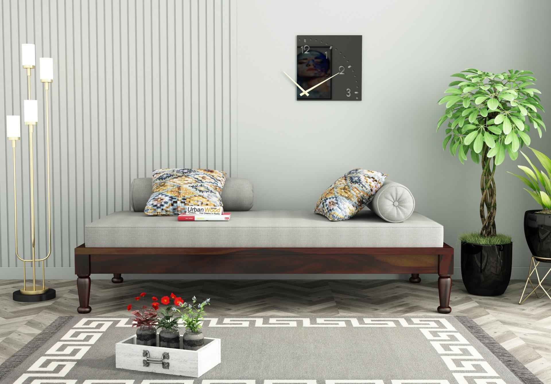 Nora Diwan Bed <small>(Walnut Finish)</small>