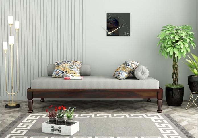Nora Diwan Bed (Walnut Finish)