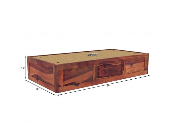 Solas Diwan Bed With Storage (Teak Finish)