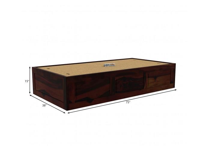 Solas Diwan Bed With Storage (Walnut Finish)