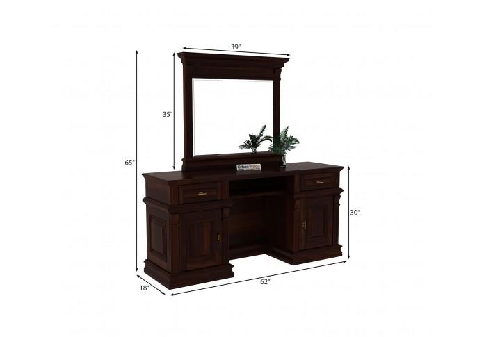 Amaze Dressing Table <small>( Walnut Finish )</small>