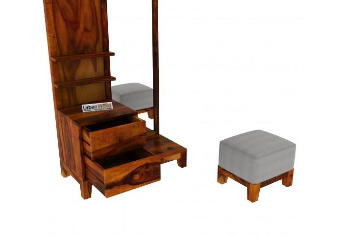 Gella Dressing Table <small>( Honey Finish )</small>