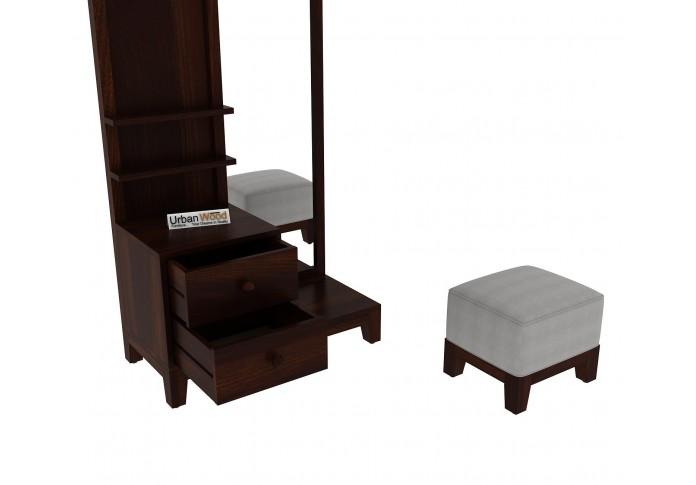Gella Dressing Table <small>( Walnut Finish )</small>