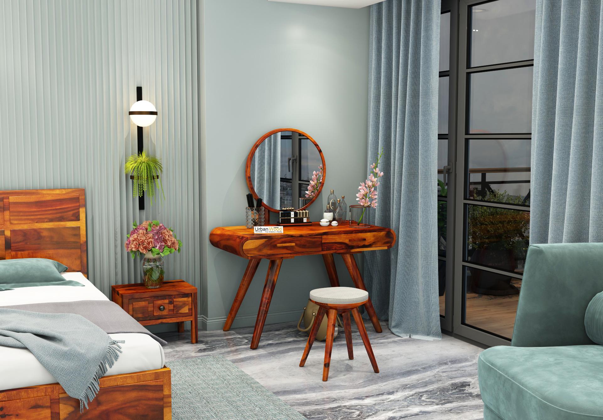 Sam Dressing Table <small>( Honey Finish )</small>
