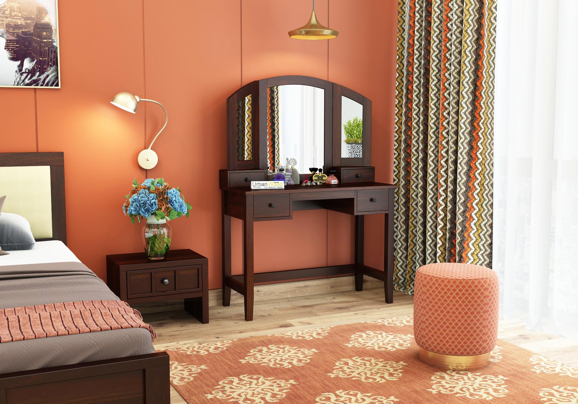 Taylor Dressing Table <small>( Walnut Finish )</small>