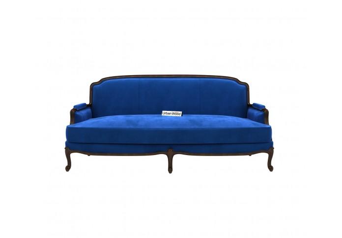 Abro 3 Seater Sofa (Velvet, Sapphire blue)