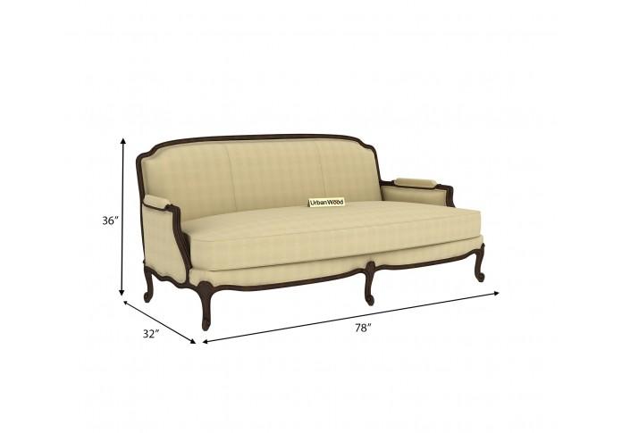 Abro 3 Seater Sofa (Cotton, Sepia cream)