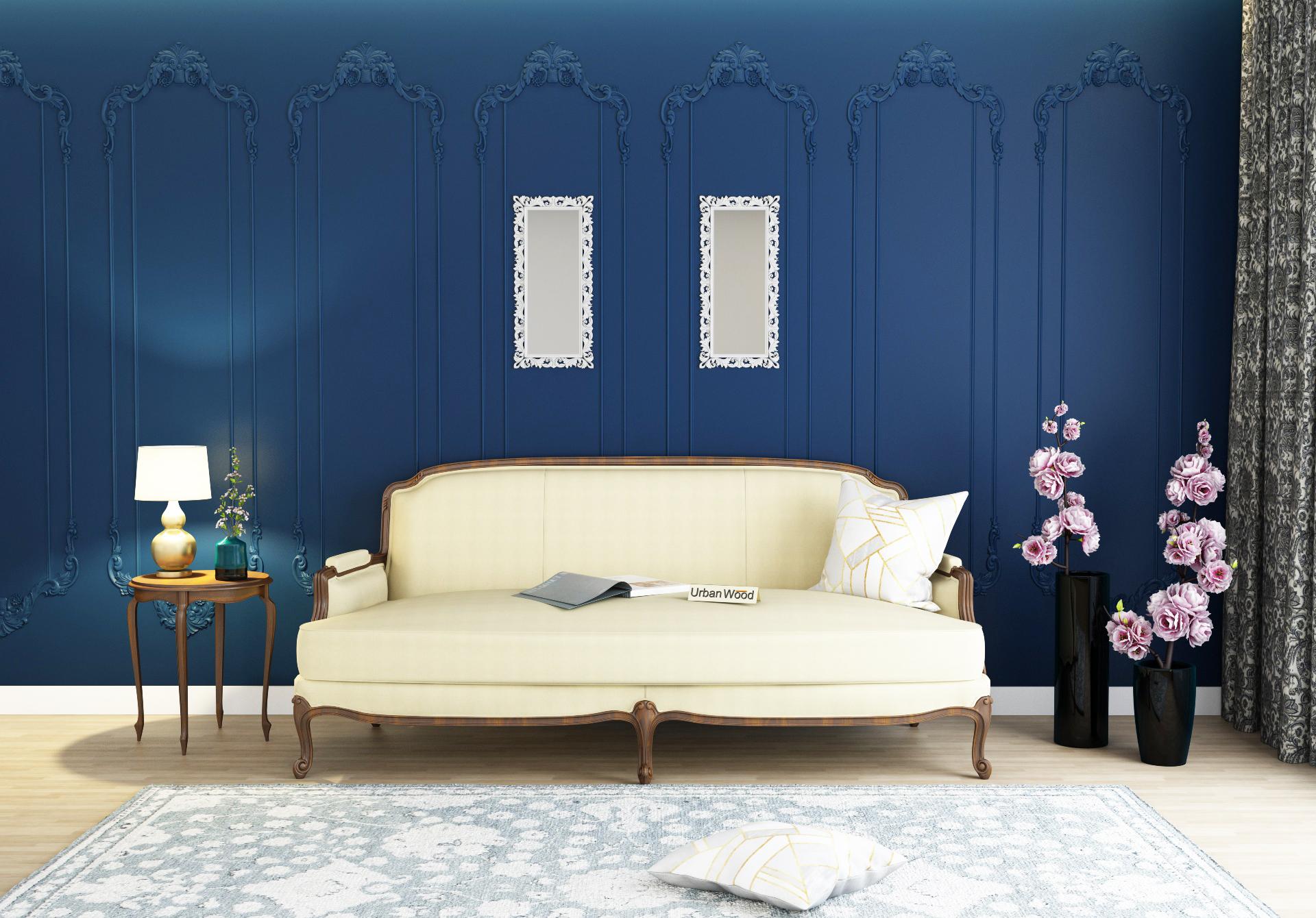 Abro 3 Seater Sofa <small>(Cotton, Sepia cream)</small>
