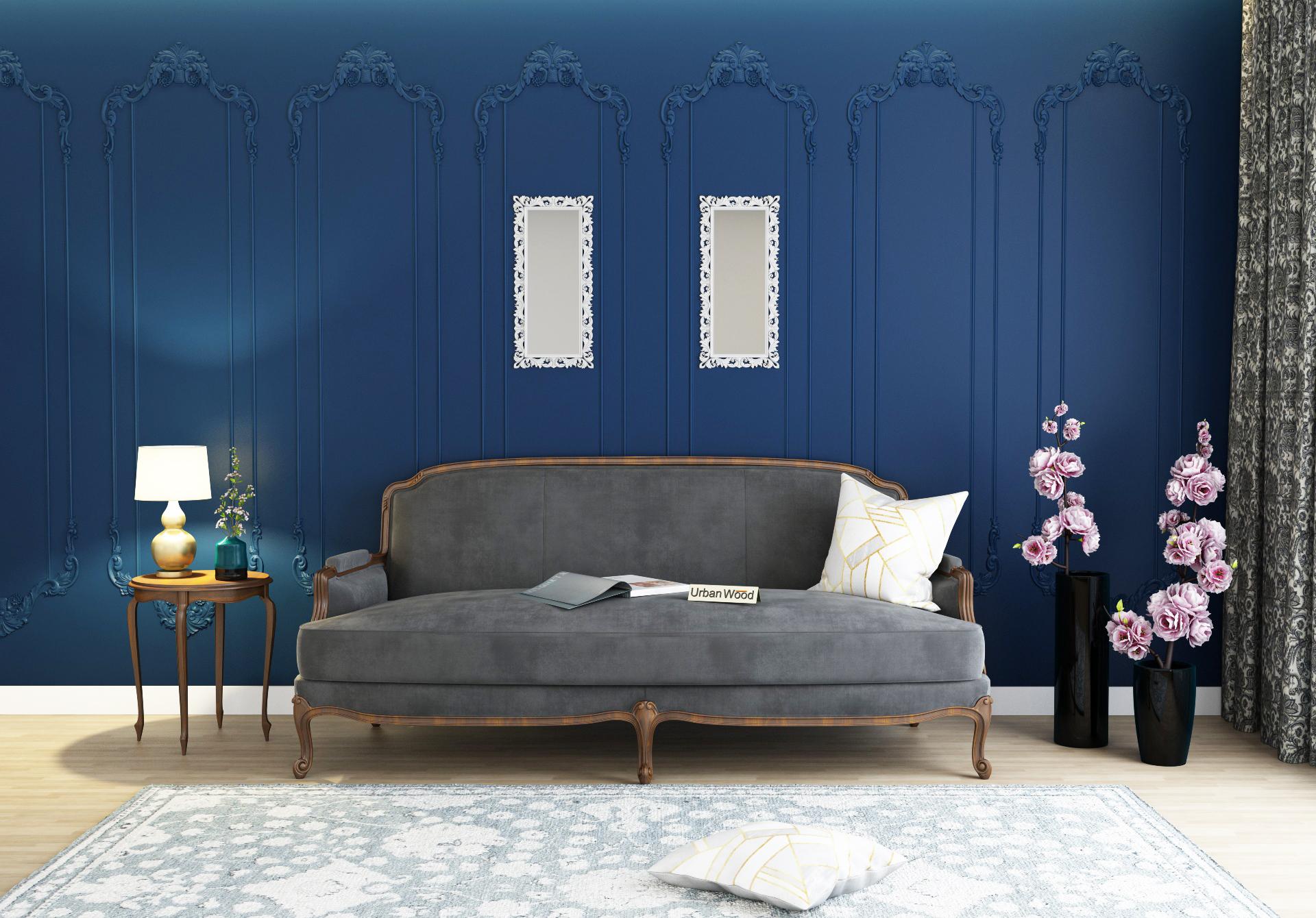Abro 3 Seater Sofa <small>(Velvet, Stone gray)</small>