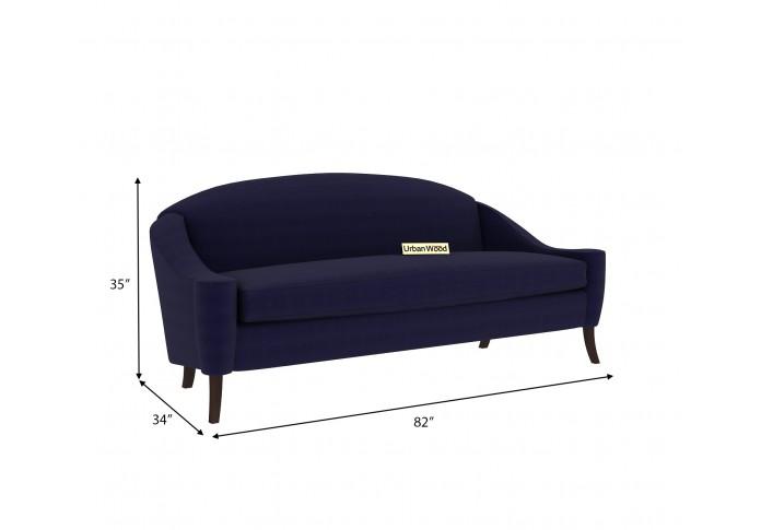 Crimson 3 Seater Sofa (Cotton, Navy blue)
