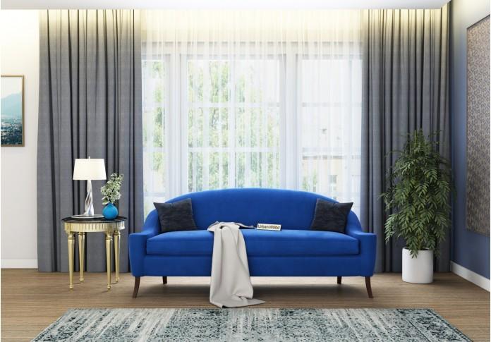 Crimson 3 Seater Sofa <small>(Velvet, Sapphire blue)</small>