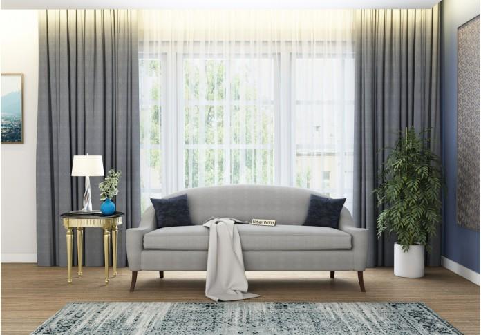 Crimson 3 Seater Sofa <small>(Cotton, Steel gray)</small>